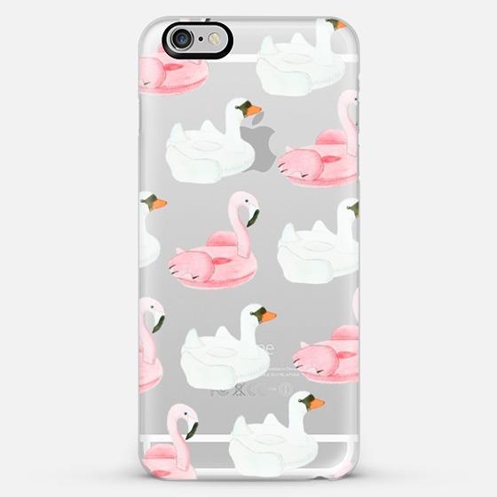 Swan Pool Float iPhone Case