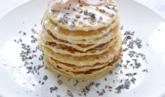 Blueberry Lavender Rose Pancakes