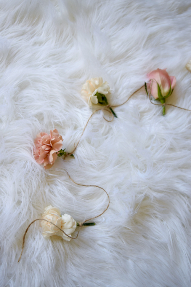 DIY Flower Garland Shabby Chic