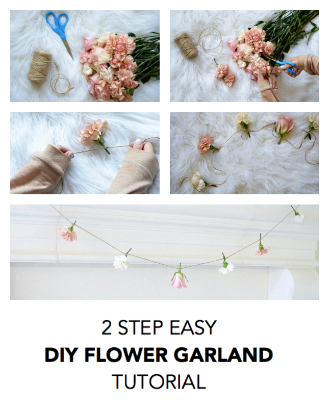 DIY Flower Garland Tutorial