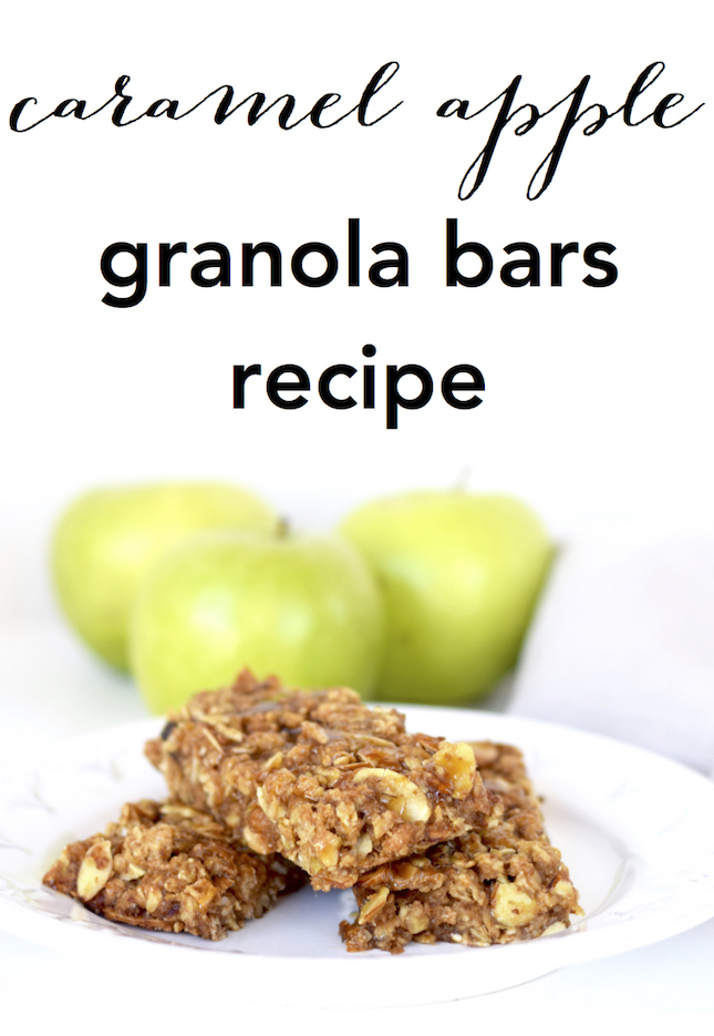 Caramel Apple Granola Bars