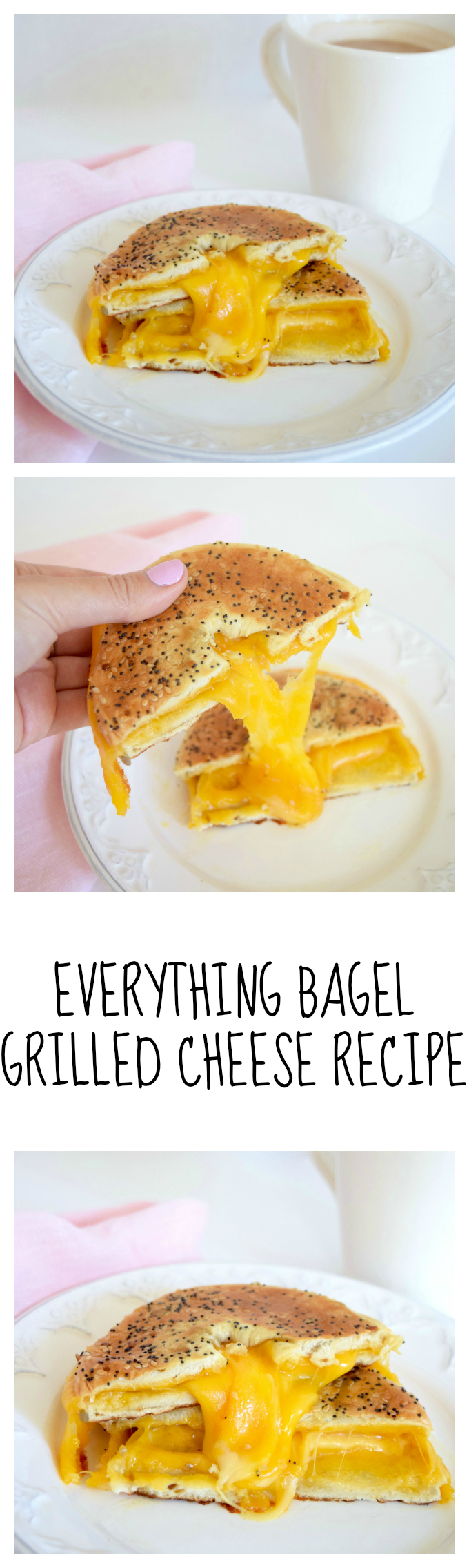 EVERYTHING BAGEL GRILLED CHEESE RECIPE