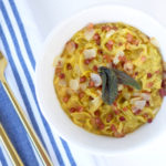 Healthier Carbonara Squash Pasta With Butternut Squash Cream Sauce, Pancetta, Onion, & Fried Sage