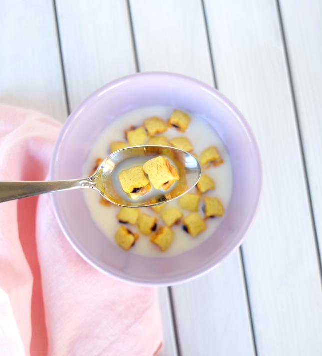 Mini Peanut Butter And Jelly Sandwich Cereal Recipe