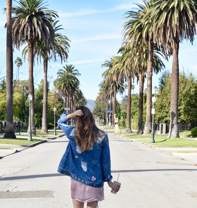 LA Fashion Blogger DIY Embroidered Denim Jacket