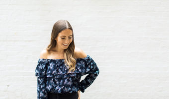 Chicago Fashion Blogger Off The Shoulder Top