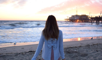Club Monaco Bow Back Sweater La Fashion Blogger Sunset