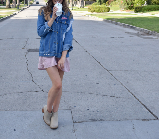 DIY Embroidered Denim Jacket