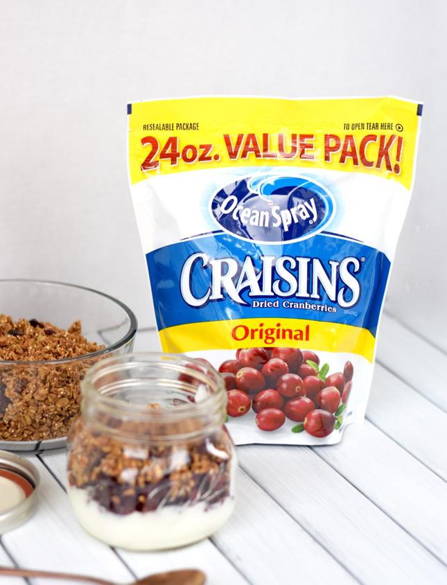 Fall Yogurt Parfait Recipe With Granola And Craisins Easy 3 Minute Recipe