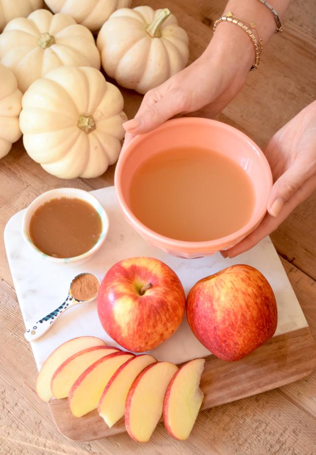 Making Caramel Apple Popsicles Recipe
