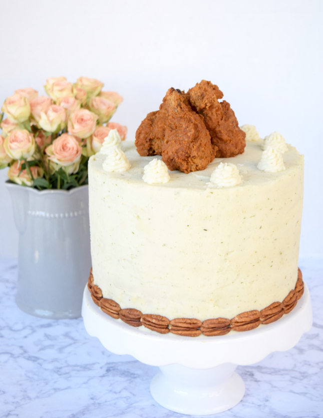 Fried Chicken Cake Recipe