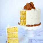 Fried Chicken, Cornbread, & Mashed Potatoes Layered Cake Recipe