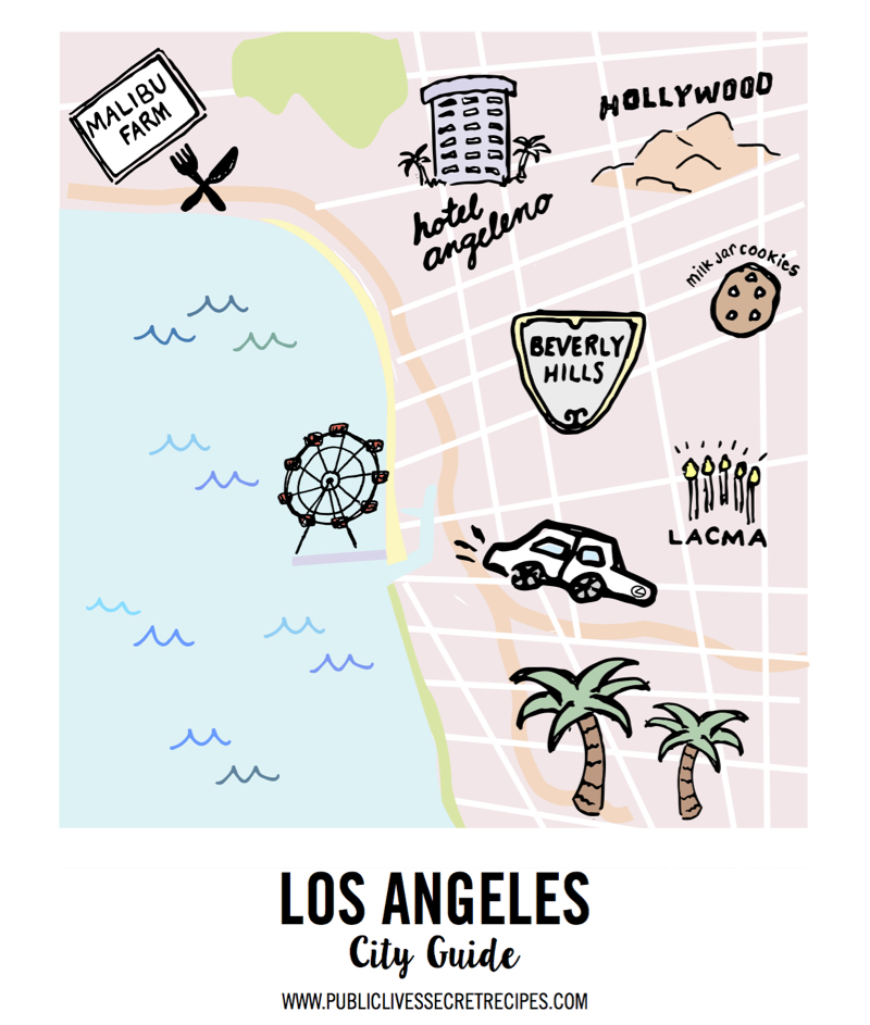Los Angeles City Guide Map