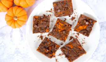 Making The Best Easy Six Ingredient Pumpkin Brownies Recipe