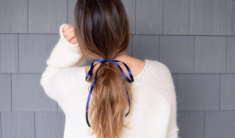 how to create the perfect low ponytail