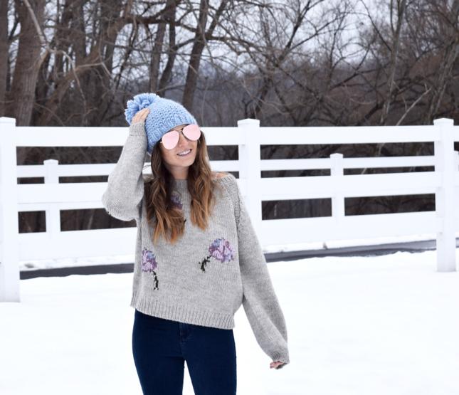 La Vie Rebecca Taylor Floral Sweater