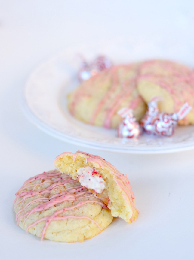 candy cane kiss stuffed sugar cookies recipe - Best Christmas Sugar Cookie Recipe