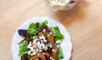 Pear Balsamic Goat Cheese Salad