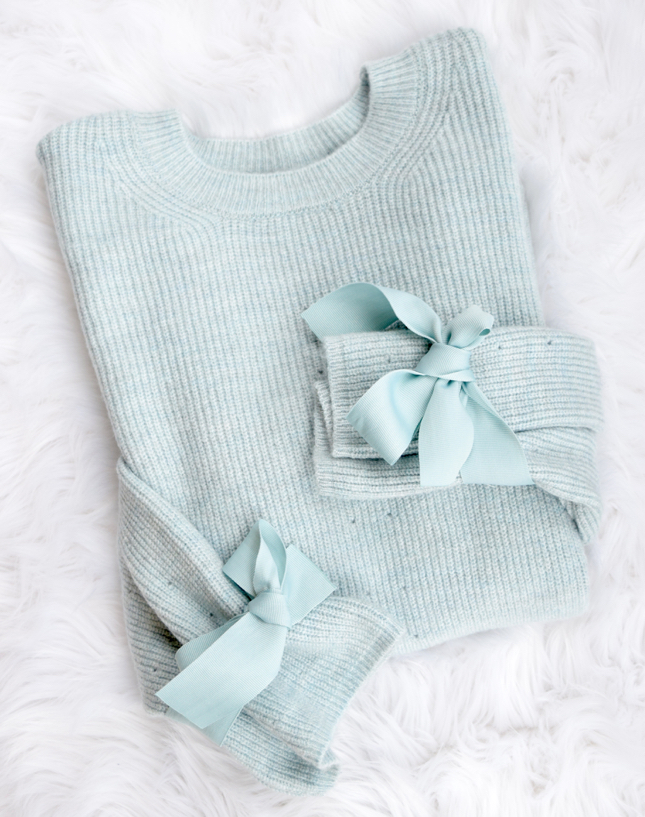 Topshop Tie Sleeve Sweater