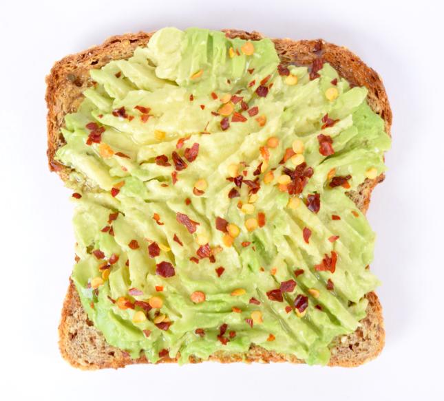 Avocado Olive Oil Red Chili Flakes Toast Recipe