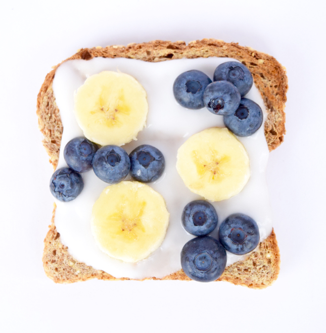 Banana Blueberry Coconut Yogurt Toast Recipe