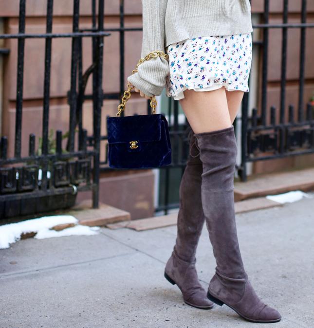 NYFW OTK Boots With Dress