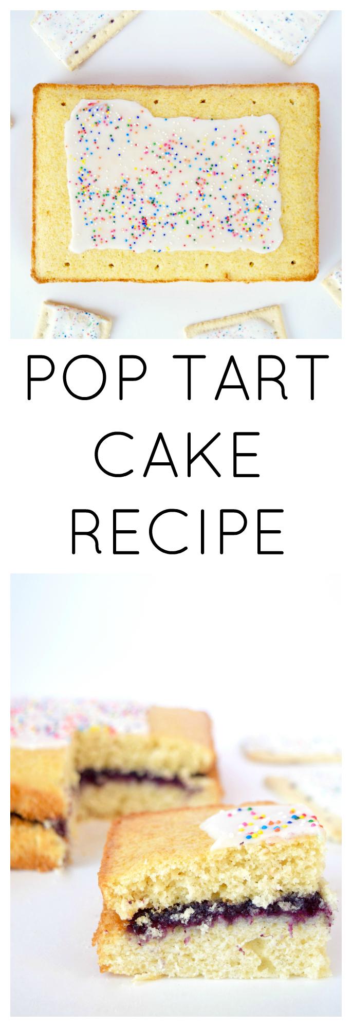 POP TART CAKE RECIPE