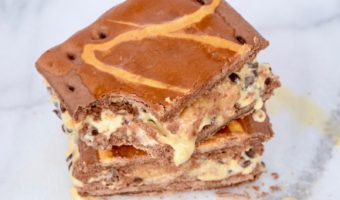 Caramel Pop Tart Ice Cream Sandwich