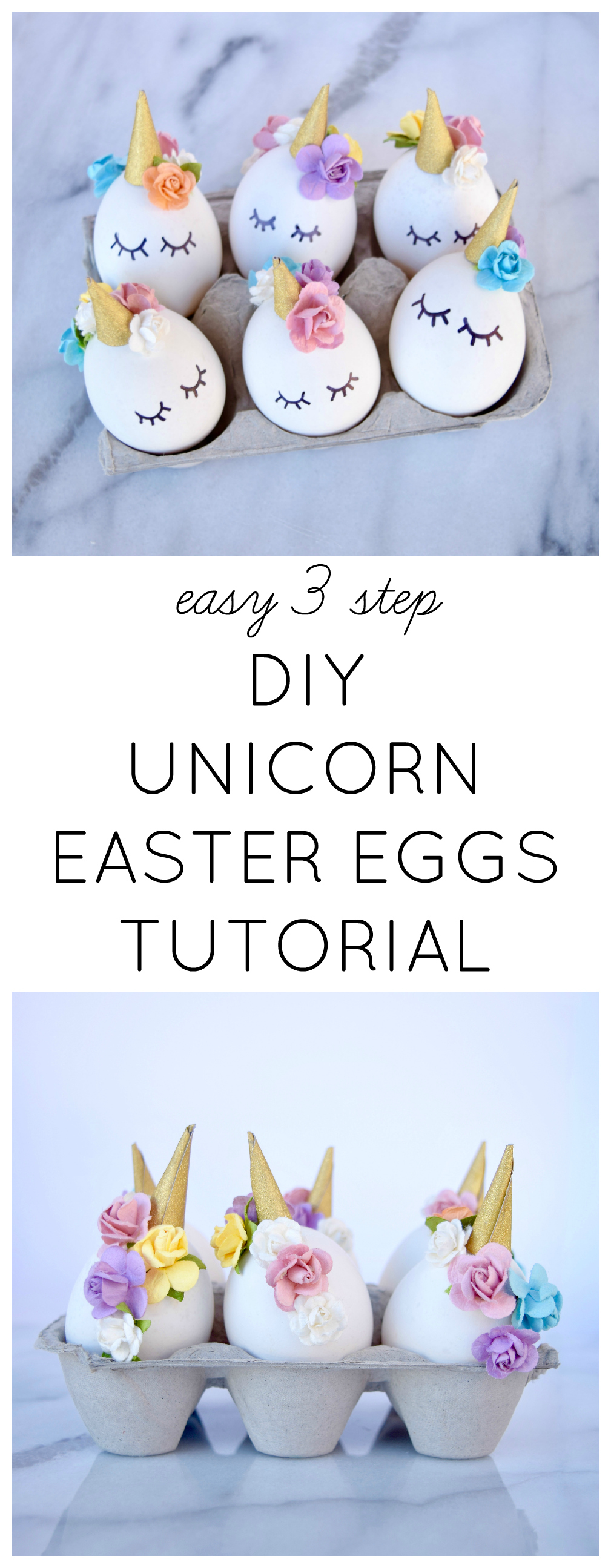 EASY 3 STEP DIY UNICORN EASTER EGGS TUTORIAL