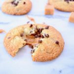 Gooey Caramel Chocolate Chip Cookie Recipe + A Secret Ingredient!