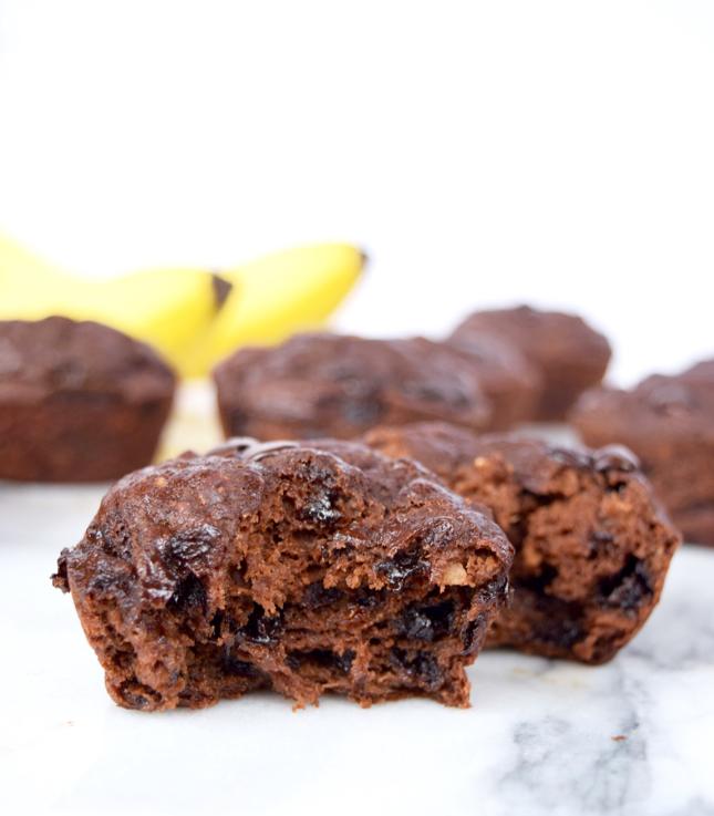 Healthy Chocolate Banana Muffins Recipe