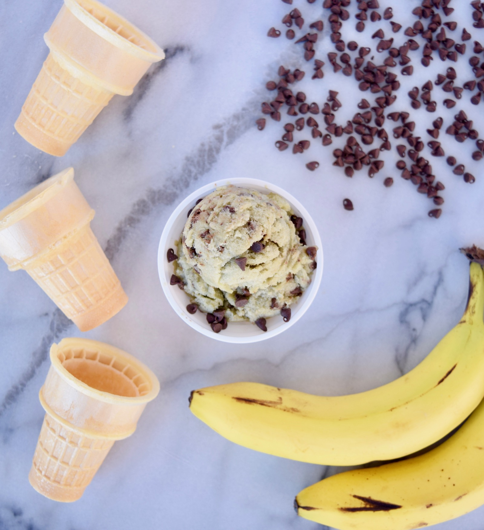 Healthy Mint Chocolate Chip Vegan Banana Ice Cream Recipe