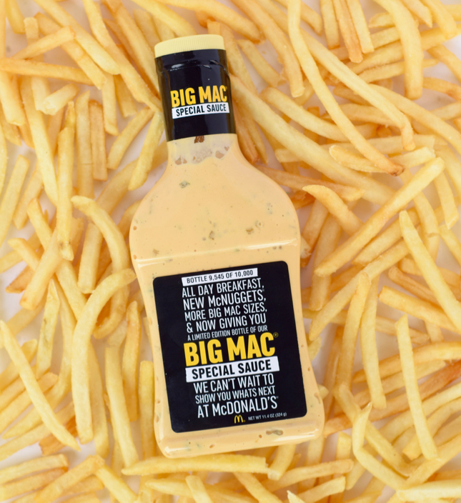 Limited Edition McDonald's Big Mac Sauce Bottle
