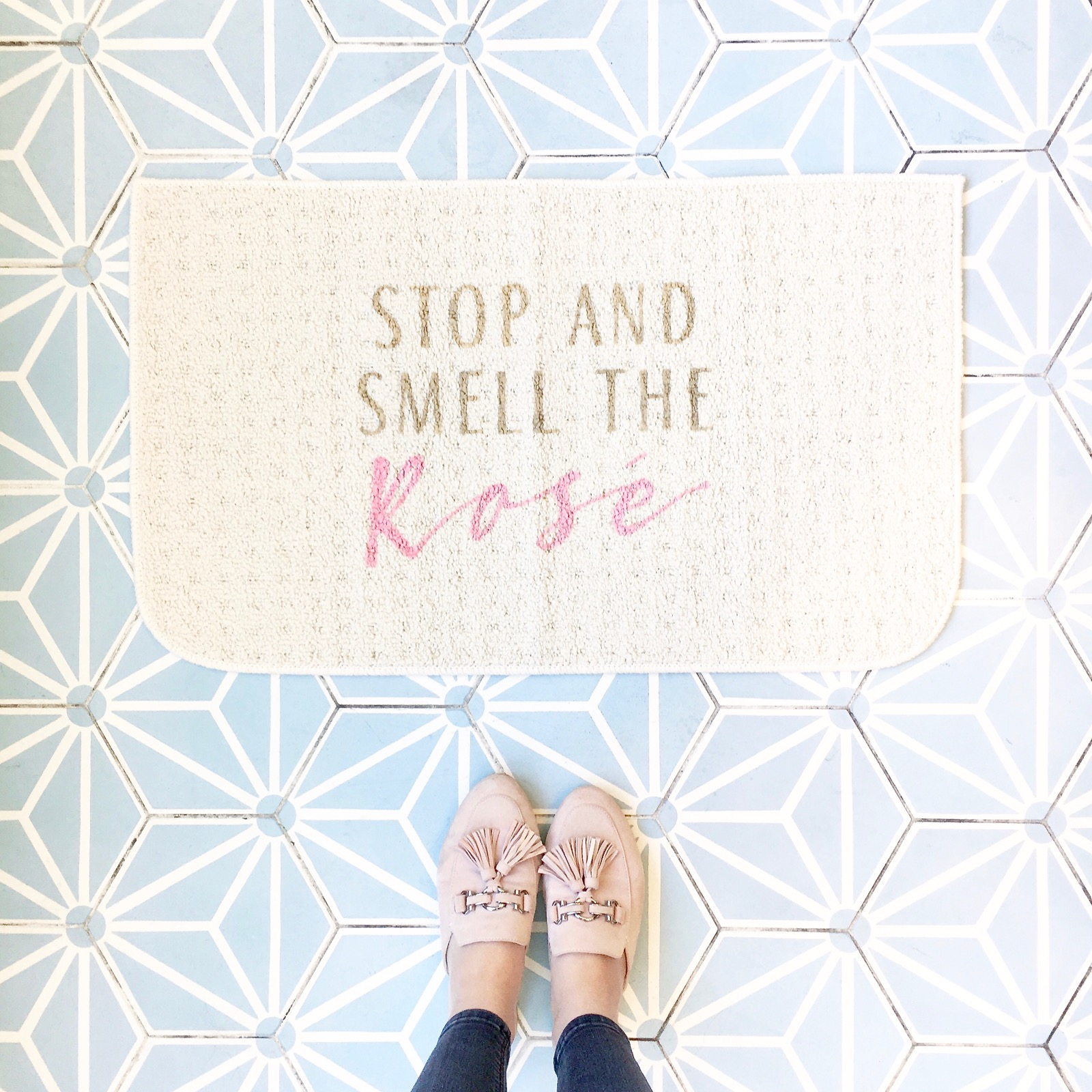 Stop And Smell The Rose Doormat