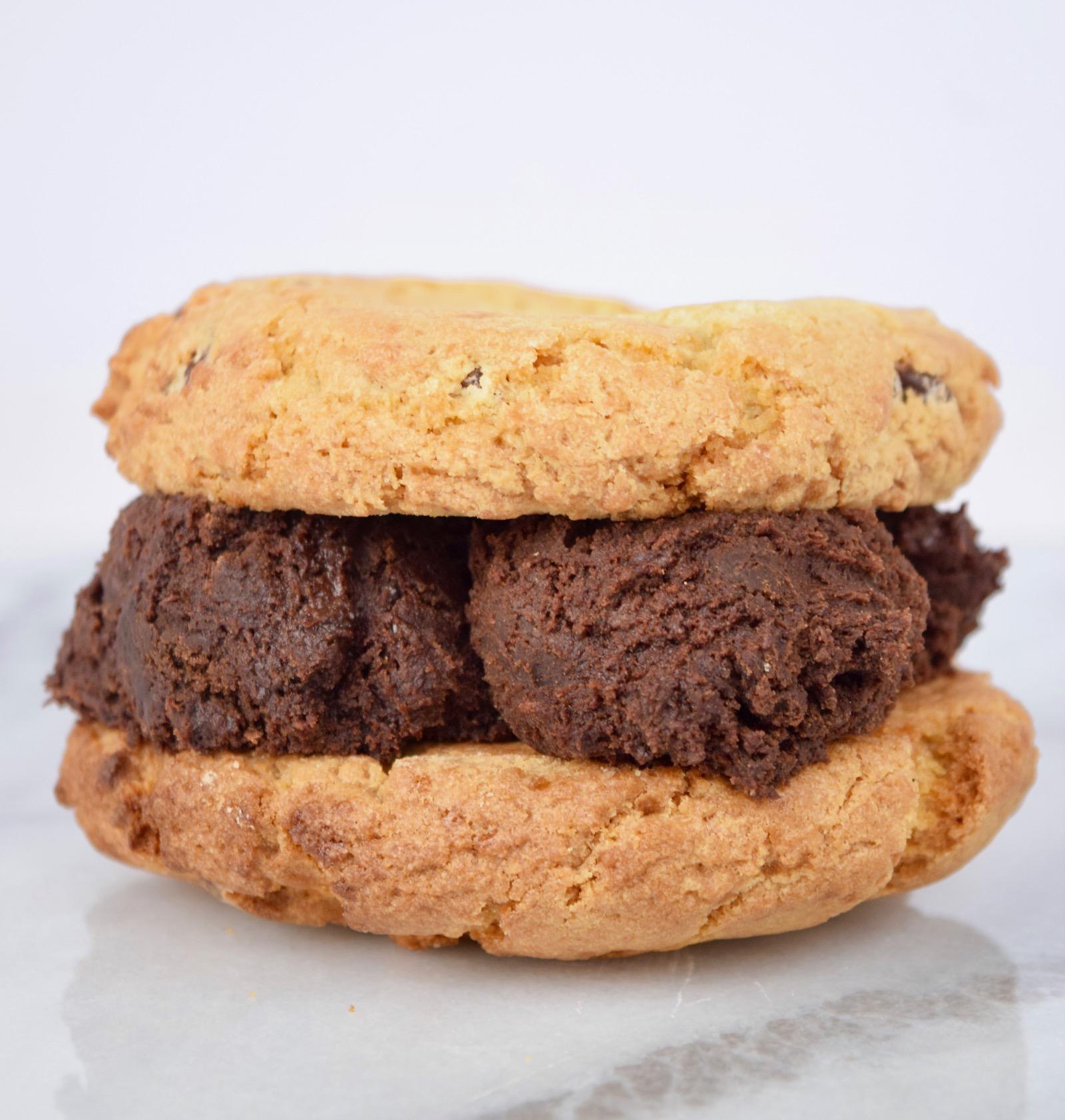 cookie dough cookie sandwich