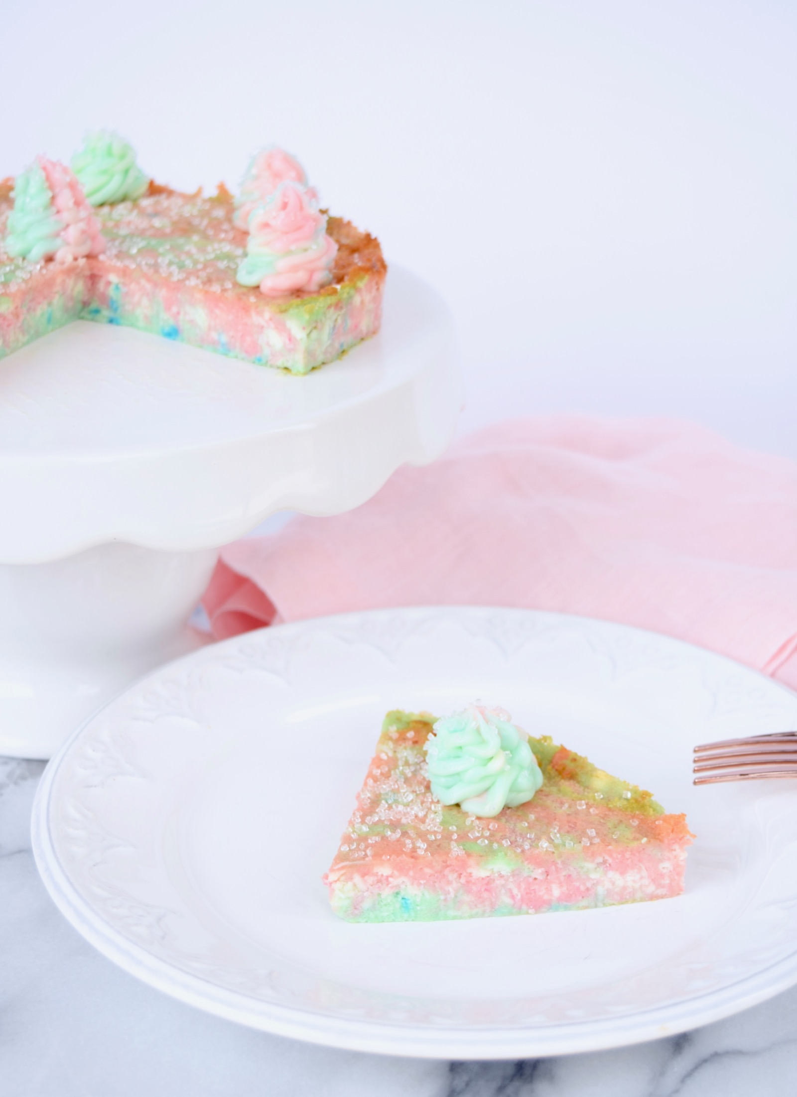 Cotton Candy Cheesecake Recipe