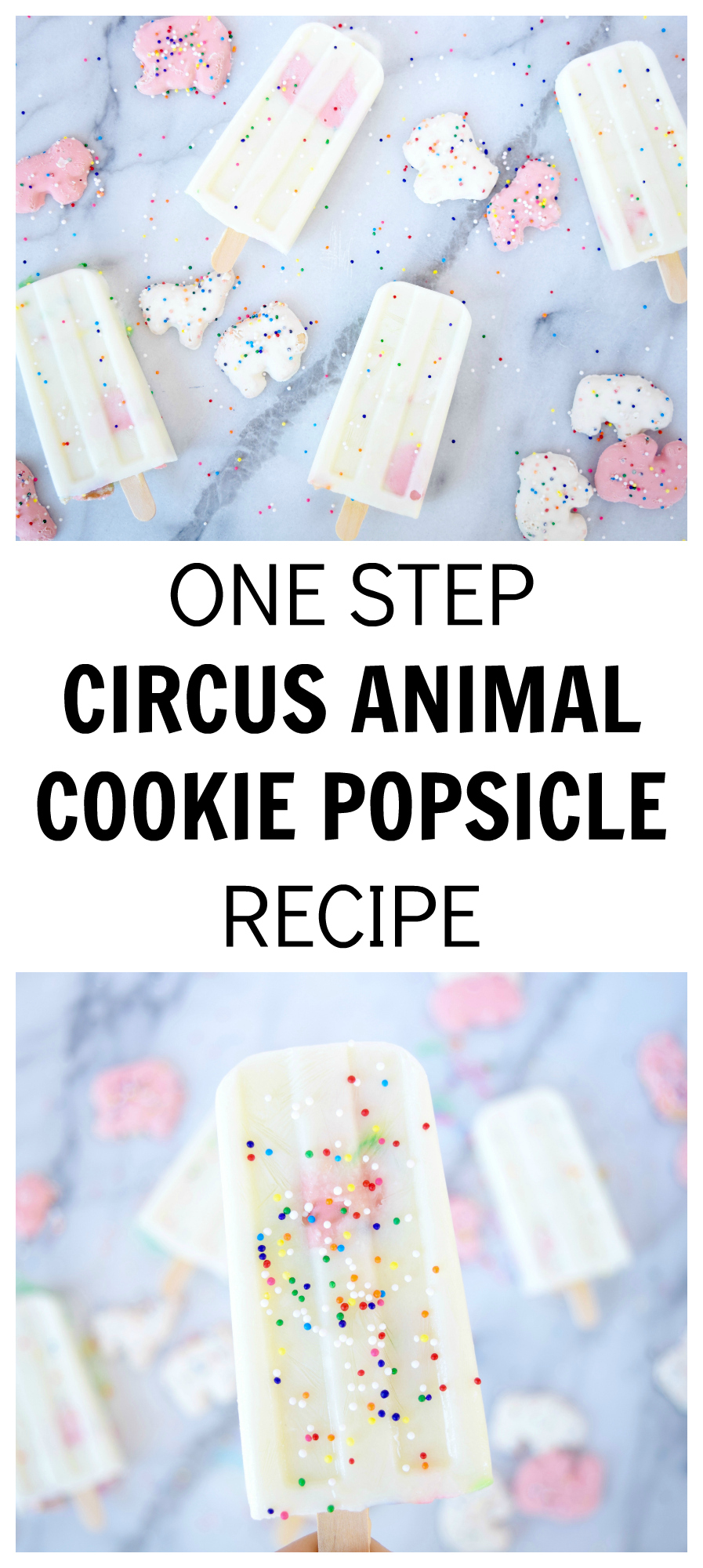ONE STEP CIRCUS ANIMAL COOKIE POPSICLE RECIPE