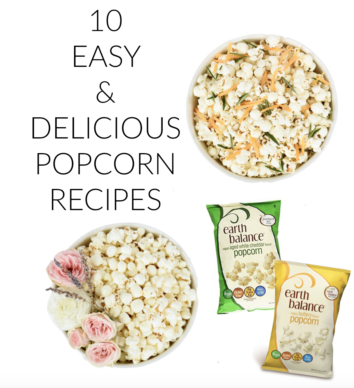 EASY & DELICIOUS POPCORN RECIPES