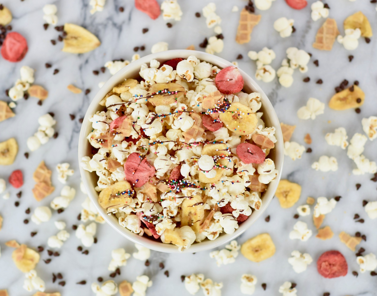 Ice Cream Sundae Popcorn Recipe