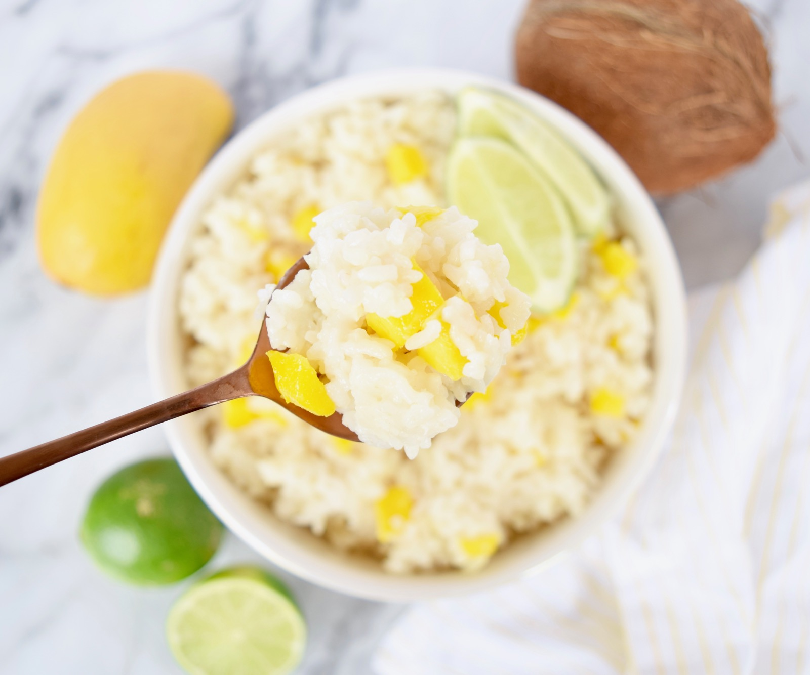 Mango Coconut Lime Rice
