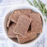 5 Ingredient Rosemary Flaxseed Crackers Recipe