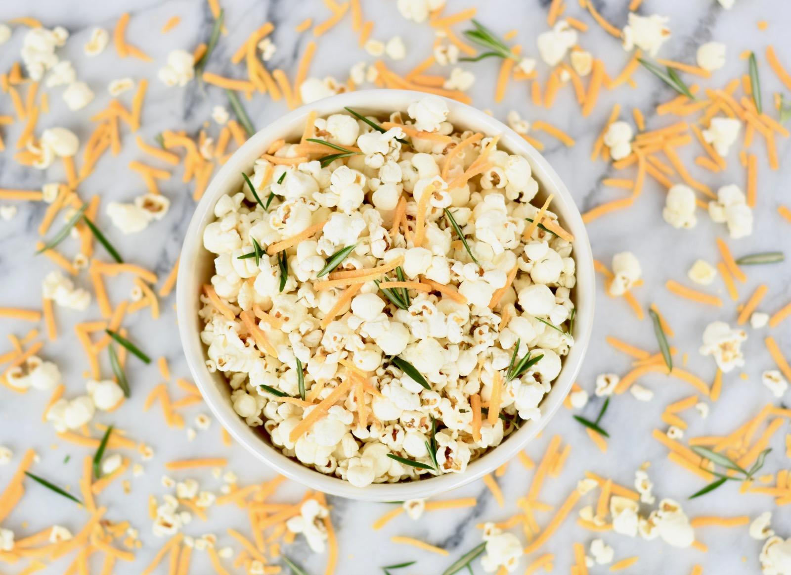 Rosemary Thyme Cheddar Popcorn Recipe