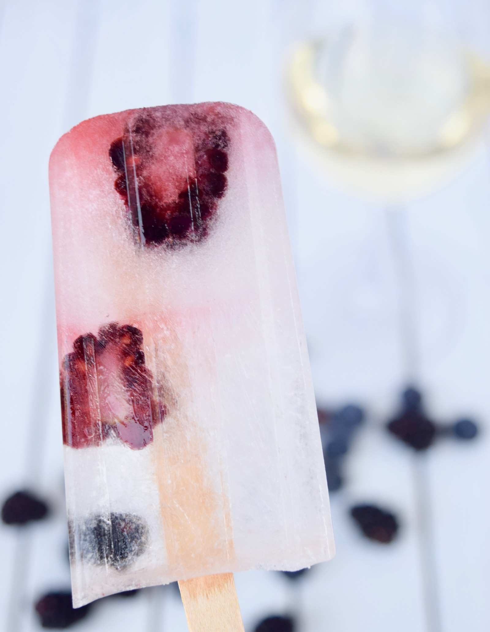 fruit prosecco popsicles
