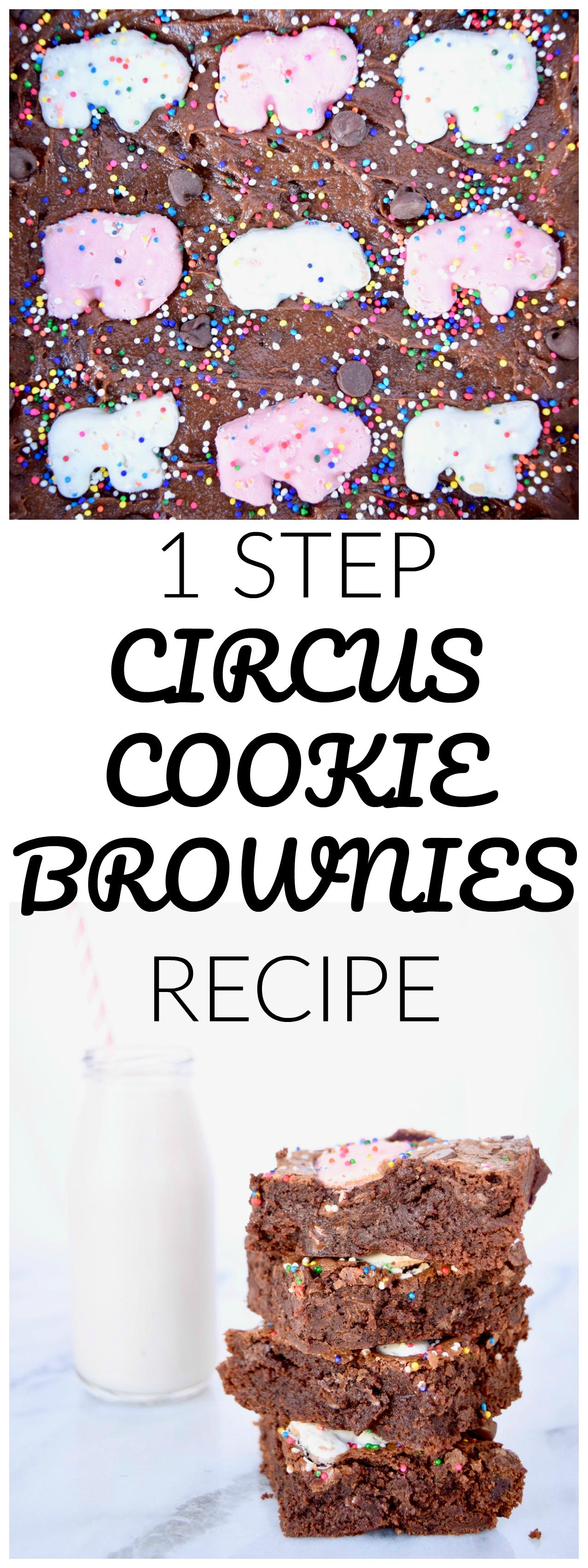 1 STEP CIRCUS COOKIE BROWNIES RECIPE