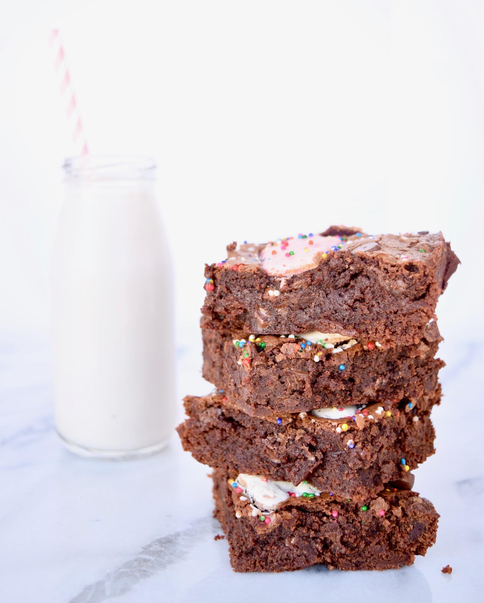 Circus Cookie Brownies
