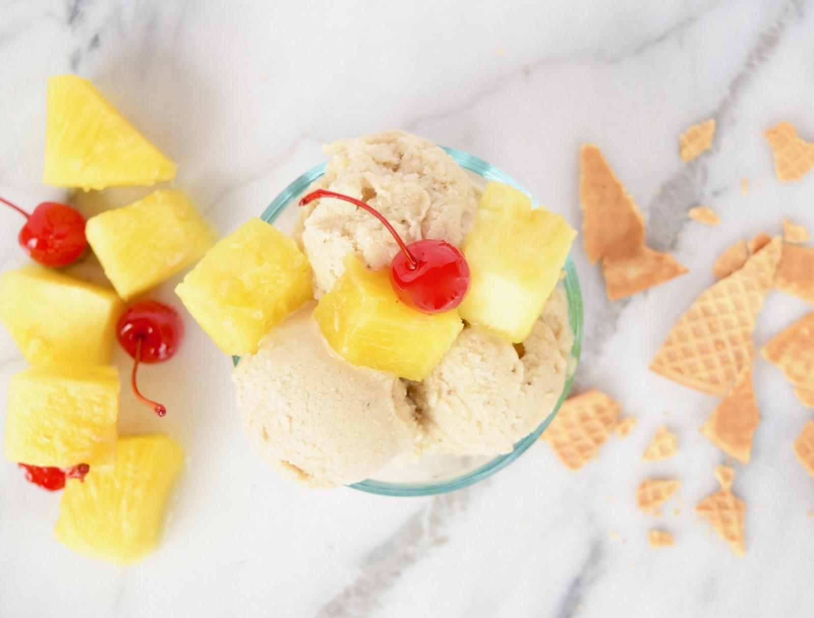 Healthy Homemade Pina Coloda Ice Cream Recipe