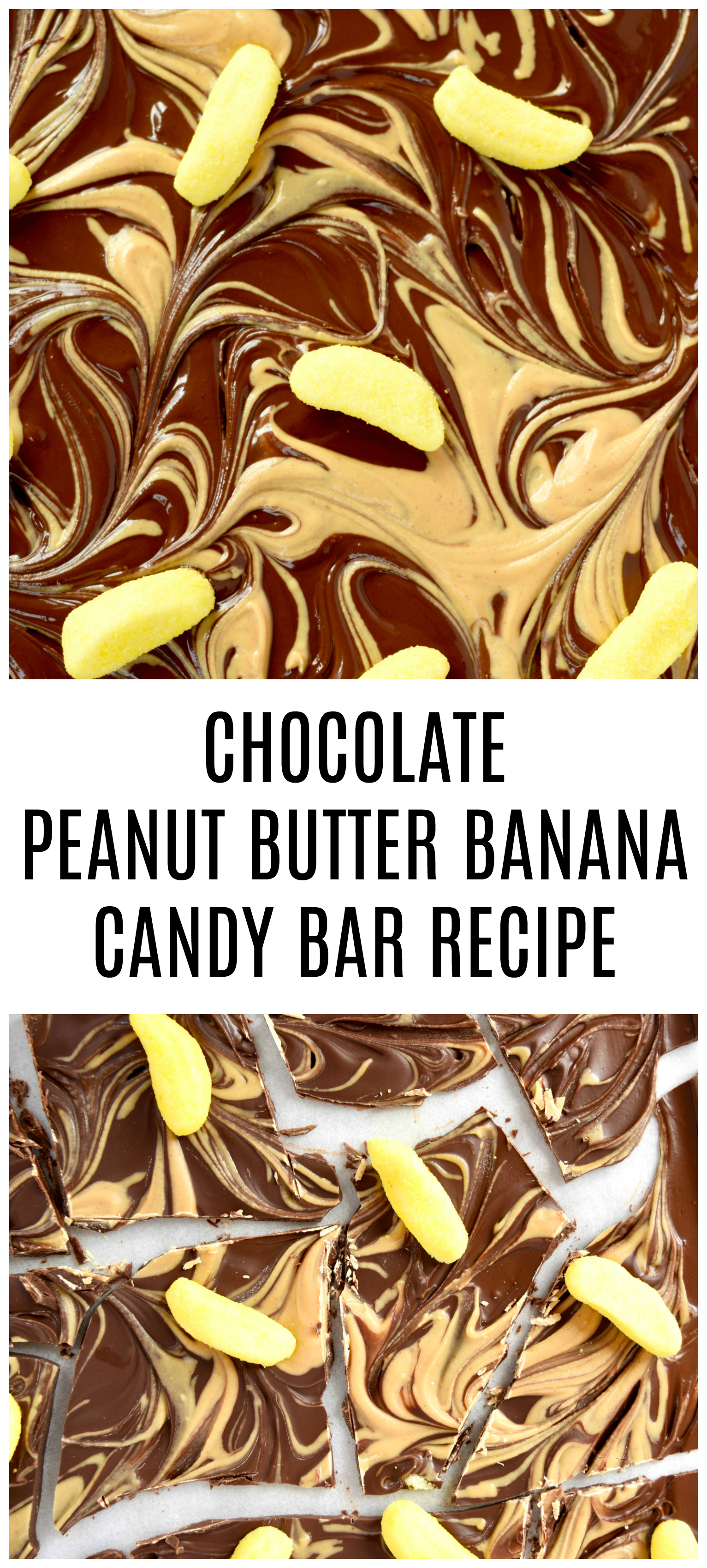 CHOCOLATE PEANUT BUTTER BANANA CANDY BAR RECIPE