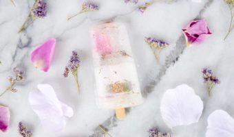 Edible Flower Popsicles