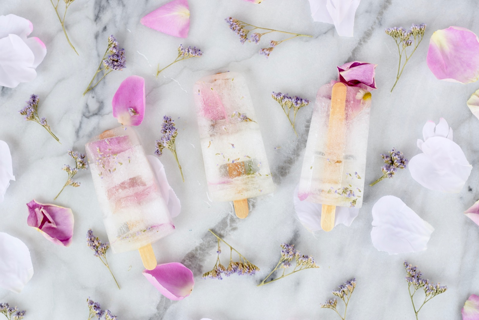 Sparkling Edible Flower Popsicle Recipes