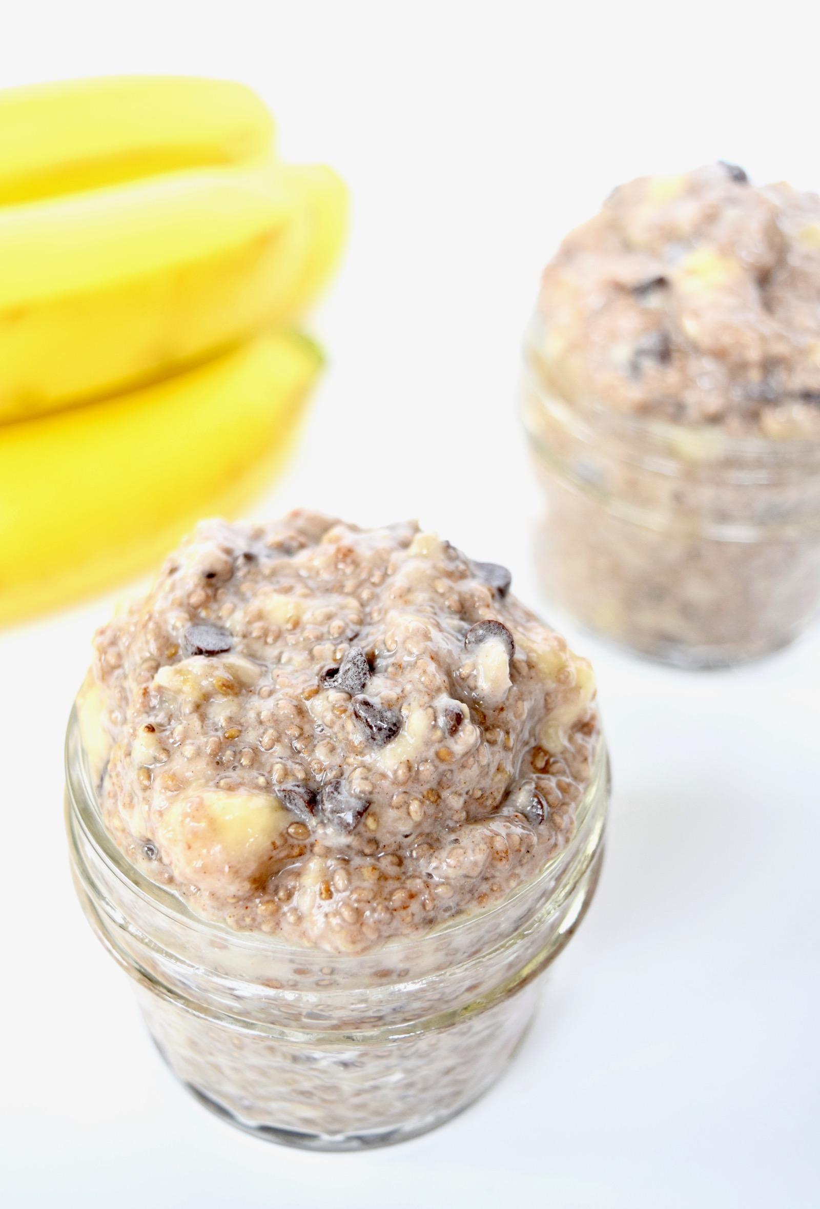 chocolate banana. chia seed pudding